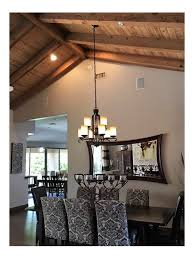 hanging rectangular chandelier with 2