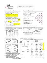 mcat princeton review formulas