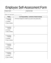 Job Performance Evaluation Sample Employee Appraisal Form Template ...
