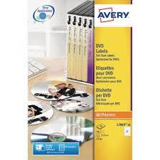 How To Label Dvds Avery Full Face Laser White Dvd Label 2 Per Sheet Pack Av23774