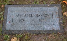 "Ave Marie ""Ava"" Hanson (1921-1949) - Find A Grave Memorial"
