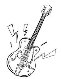 Small Picture line drawing of a smashed up guitar I love coloring pages like