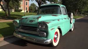 1958 Chevrolet half Ton Big Window Shortbed Stepside V8 One Off ...