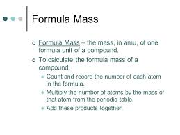 Molar mass, percent composition, empirical and molecular formulas ...