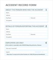 Blank Accident Report Template