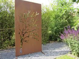 Herrlich Sichtschutz Garten Modern Winsome Edelrost Weide Edelrost Garten Sichtschutz H Cm