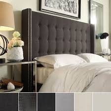 king size head board marion nailhead wingback tufted king size headboard by inspire q
