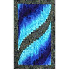 Two Fabric Bargello Quilt &  Adamdwight.com