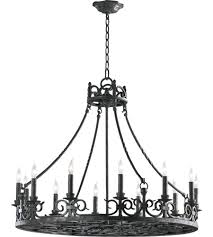 quorum 6093 12 50 lorenco 12 light 34 inch spanish silver chandelier ceiling light