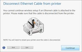 image28 gif click continue after you disconnect the ethernet cable since the printer will not accept simultaneous wired and wireless network connections