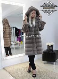 incredibly beautiful fur coat from a mink of nafa length of 90 cm 50r dk 8724