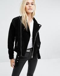 noisy may suede biker jacket black women jackets noisy may brand leading retailer