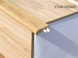 how to install hardwood flooring on stairs with nosing laminate stair nose gallery how to install