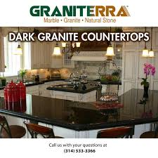 dark granite countertops