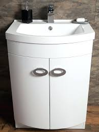 additional image of casie d shaped gloss white basin vanity unit 600mmd sink vs rectangle