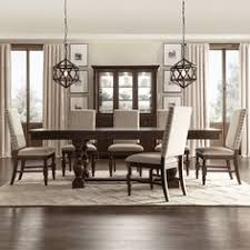 flatiron baer extending dining set by inspire q clic 7 piece set with beige linen chairs dining room tabletendable dining tablekitchen