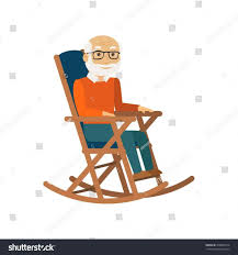 rocking chair clipart. Color Pencil Person In Rocking Chair Clipart And Man Rockg Icon Stock Vector Shutterstock