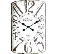 big decorative wall clocks oblong clock rectangle metal