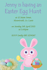 Personalised Easter Party Or Egg Hunt Invitations