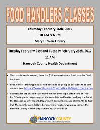 food handlers cl 2017