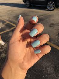 Blue Sparkle Acrylic Nails Light Blue Square Nails Blue
