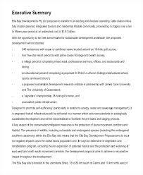 Rfp Executive Summary Template Senetwork Co