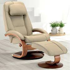 cobblestone tan top grain leather swivel recliner with ottoman and wood base chairs and recliner quick ship tight back leather swivel