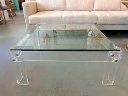 ... Sofa Square Lucite Coffee Table Transparant Simple White Circa Who  Prodigious ...