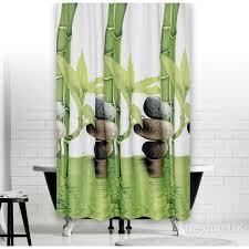 bamboo stone shower curtain 120x200 cm