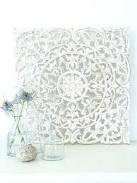 white carved wood wall decor images for panel design pier 1