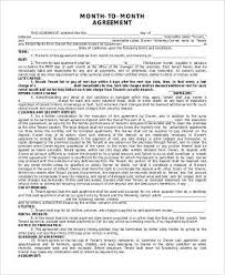 Free Month To Month Lease Agreement Form New Roommate Rental ...