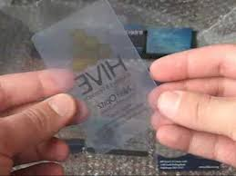 Translucent Plastic Business Cards Clear Frosty And Translucent Plastic Business Cards