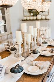 attractive table decorations for thanksgiving holiday - contemporary  thanksgiving table decor with wood table and white