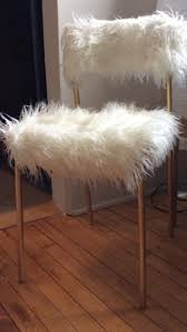 faux mongolian fur chair by niqchicstyle on s