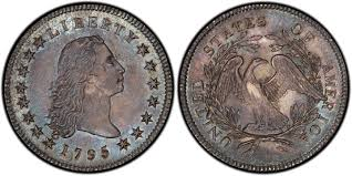1795 1 Silver Plug Regular Strike Flowing Hair Dollar