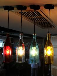cable pendant lighting. Assorted Colour Industrial Wine Glass Bottle Pendant Lamp Come With Black Canopies Also Plastic Cable Lighting E