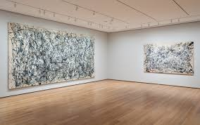 installation view of jackson pollock a collection survey 1934 1954 at moma