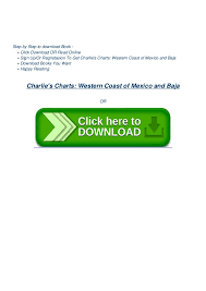 Book Charlies Charts Western Coast Of Mexico And Baja By