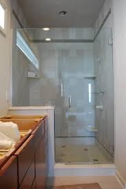 bathroom blue paint wall decoration ideas frosted glass shower door luxurious style dark gray white floor