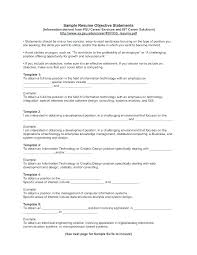 Resume Objective Statements Mesmerizing General Resume Objective Statement Examples Of A Resume Objective