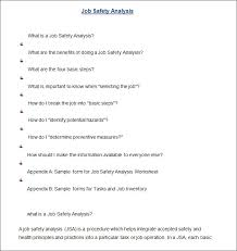 job safety analysis template 10 sample job safety analysis templates pdf doc free premium