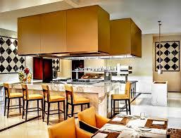 restaurant open kitchen. St. Regis Luxury Hotel Tianjin, China - Promenade Restaurant Open Kitchen