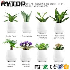office flower pots. smart mini speaker music flower pot plastic led for office home pots r