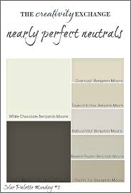 collection of great neutral paint colors used frequently with home builders and designers color palette