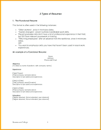 Different Resume Format Examples Of 3 Different Types Resumes Three Main Resume Formats
