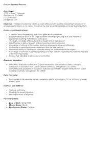 Sample High School Teacher Resume Secondary School Teacher Resume ...