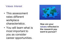 workplace values assessment what is the relationship between career assessments and informed