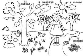 Drawing Pages Kids Drawing Of Springtime Coloring Page Download Print Online