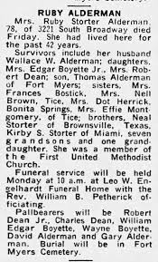 Obituary for Ruby Storter Alderman - Newspapers.com