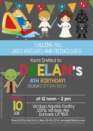 009 Star Wars Birthday Invitation Template Ideas Exceptional